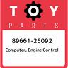 89661-25092 Toyota Computer, engine control 8966125092, New Genuine OEM Part