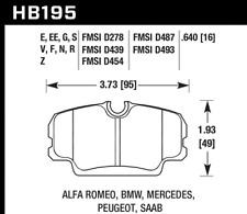 Hawk Disc Brake Pad Front for 1984 MERCEDES-BENZ 190E/190D & BMW 325e/318i