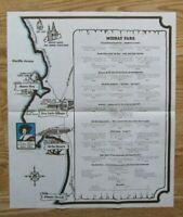 "Vintage 1960s SAN LUIS BAY INN Map Menu Poster 17 3/4 x 21"", Avila Beach CA"