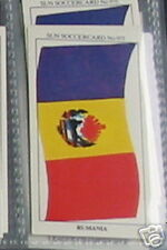 rumania flag soccer Collector card 975