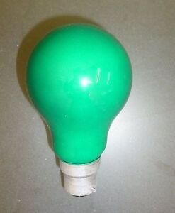 25W 240V Push In Green Coloured Light Bulb (SB287)