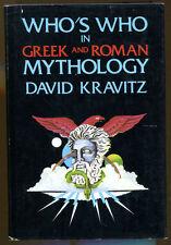 Who's Who in Greek & Roman Mythology by David Kravitz-1976 Edition/DJ