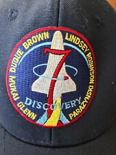 Space Shuttle Discovery Baseball Cap Hat Astronaut Names Adjustable Rare