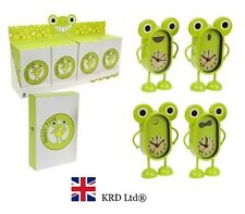 Green Happy Frog Children metal alarm clock bedside table girls boys