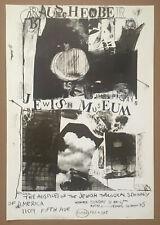 rare ROBERT RAUSCHENBERG 1963 Jewish Museum poster ULAE jasper johns warhol