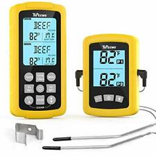 Wireless Remote Thermometer Probe BBQ Grill Meat Kitchen Oven Food Cooking Smoke