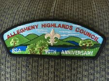 MINT CSP Allegheny Highlands Council SA-17 90th Anniversary