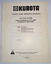 Kubota L2010 6' Dozer Owners / Parts Manual (used on L345 Tractors) blade L2012
