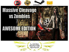 Massive Cleavage vs Zombies: Awesome Edition PC & Mac Digital STEAM KEY - Region