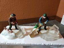 Department 56 Heritage Village Blue Star Ice Harvesters Figurine Set #5650-2