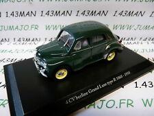 4CV9 Voiture 1/43 ELIGOR  hachettes renault 4CV n° 6 grand luxe type R1060 1950