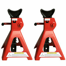 Pair Of Racing Jack Stands 3 Ton 6000 Lb Pair Heavy Duty Car Truck Auto Red