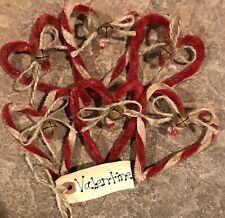 One-Half Dozen Red & White Twisted Chenille *Valentine* Hearts