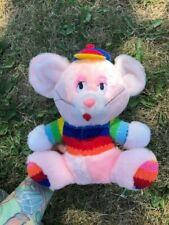 Vintage Pastel Pink Rainbow Mouse Plush Toy Fancy Toy Fairy Kei