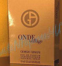 Giorgio Armani ONDE VERTIGE Eau de Parfum 0.05fl.oz/1.5ml CARDED SAMPLE