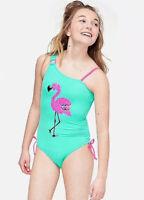 New Justice Swimsuit Flamingo Pink Girls Swim Wear 1 Piece Size 18 Bathing Suit