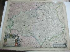 Um 1680.-de Wit.Kol.Karte.Thüringen, Sachsen, Anhalt-Circuli Saxoniae Superiori