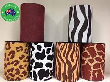 6x Animal PRINT WILD Designer Beer Can Stubby Holder Stubbie Cooler with base