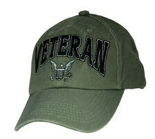 U.S. Navy Veteran Hat / USN OD Green Baseball Cap 6494