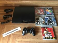 Sony PlayStation 3 PS3 Slim 120 GB Console System Bundle + 5 Games - EXCELLENT!