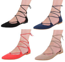 Markenlose Damen-Schnürschuhe aus Kunstleder für die Freizeit