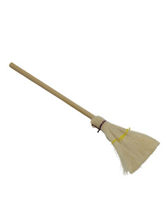 Dolls House Miniature wooden Broom-brush- accessory 1:12 scale