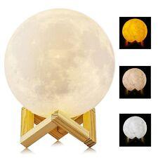 Lámpara de luna en 3D, ALED LIGHT Luna 15 cm de Diámetro Conexión Usb 3 Colores