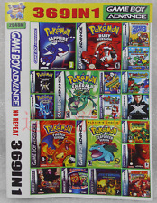 369 in 1 Nintendo Pokémon Mario Rockman Series Game Cartridge for GBA SP NDS