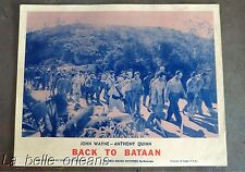 JOHN WAYNE - BACK TO BATAAN- LOBBY CARD RE-RELEASE 1959 FOR PRE EMBARGO CUBA