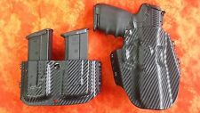 HOLSTER COMBO BLACK CARBON FIBER KYDEX FN 5.7 MK2 WITH DOUBLE MAG HOLSTER