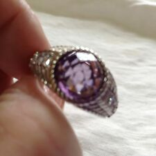 Judith Ripka Amethyst and Diamonique Ring