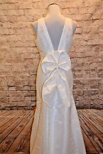 Modcloth You May Now Bliss the Bride Dress NWT 10 BARIANO White Remove Train