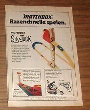 Vintage 1972 Matchbox Sky-Jack Cascade Scream'n Demons Print Ad Dutch