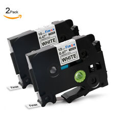 2 PK Brother TZ231 TZe231 P-Touch Compatible Black on White Label Tape12mm X 8m