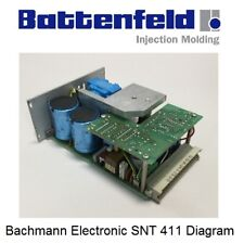 BATTENFELD PLASTIC INJECTION MACHINE POWER SUPPLY BACHMANN SNT-411/2 DIAGRAM