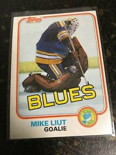 TOPPS NHL HOCKEY 1981 MIKE LIUT CARD 20 ST LOUIS BLUES EXCELLENT
