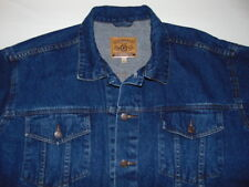 Incrowed Stone Wash Blue Cotton Denim Jacket Mens Size XL