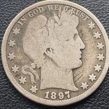 1897 O Barber Half Dollar 50c Rare Nice Grade  #23898