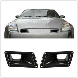 Bumper Carbon Fiber Air Vent Intake Duct Left Right For Nissan 350Z Z33 03-09 A