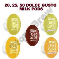20,25,50 NESCAFE DOLCE GUSTO MILK PODS ONLY (LOOSE): CAPPUCCINO, LATTE, SKINNY