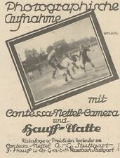 Y6166 Contessa Nettel Camera - Pubblicità d'epoca - 1925 Old advertising