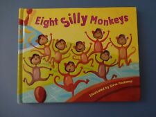 EIGHT SILLY MONKEYS Steve Haskamp 2003 Counting Board Book VGC