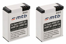 2x Batteria AHDBT-301 per GoPro Hero3 HD Black, White & Silver Edition