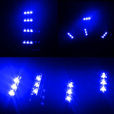 Light Blue 4LED Car Interior Charge Atmosphere Lamp Accessories Floor Decor Blue