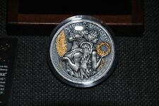 Niue 2018 5$ Nike & Victoria Goddesses Coin 2 oz silver Mint condition