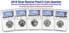 2018 Silver Reverse Proof Set Early Releases 5 Quarters Reverse PF70 NGC Bridge