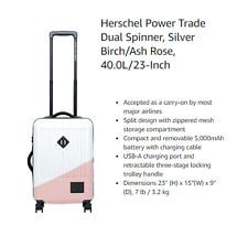 "Herschel Power Trade Dual Spinner, Silver Birch/Ash Rose, 40.0L / 23"" 2559 []"