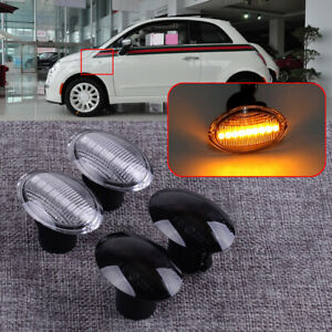 Dynamic LED Side Marker Indicator Repeater Light Lamp Fit for Fiat 500 Ford KA