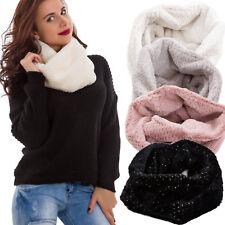 Sciarpa donna scaldacollo accessori cappello fascia pelliccia eco nuovo YF-8580