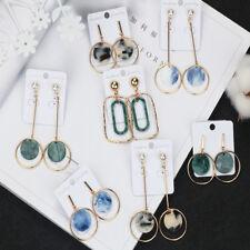 Geometric Resin Statement Earrings For Women Fashion Dangle Earring Stud Jewelry
